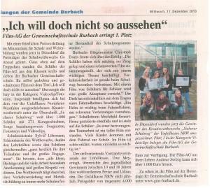 Siegener Zeitung vom 11.12.2013