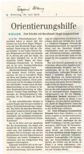 Siegener Zeitung 30.06.2015