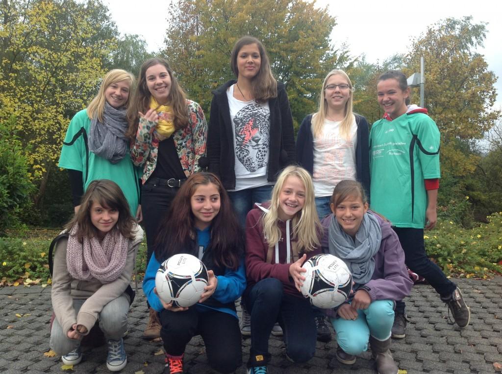 Spitzen Leistung einer tollen Mannschaft - unsere Kreismeisterinnen im Schuljahr 2013/14