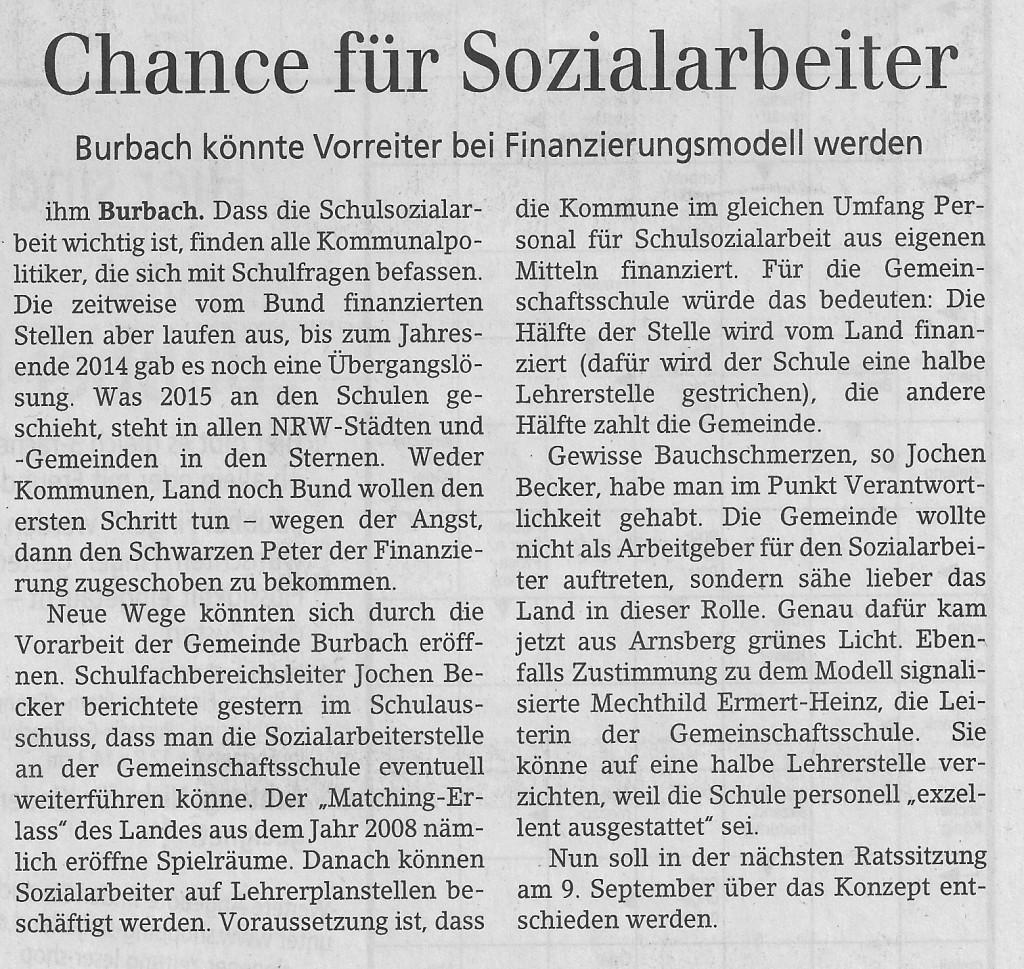 Bericht SZ vom 29.08.2014